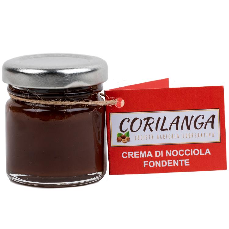 Crema di Nocciola Fondente 40 gr.