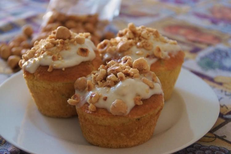Muffin Salati con granella di nocciole.